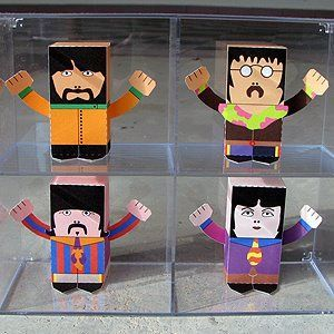 Toy-A-Day: Day 91 - 94: The Beatles (Yellow Submarine version)