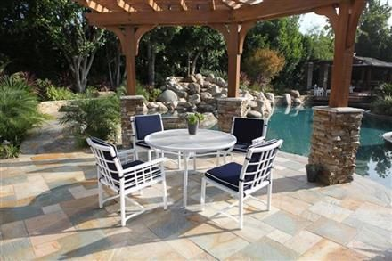 Evans 5-Piece Outdoor Dining Collection K-280-EVANS-SET-DINING