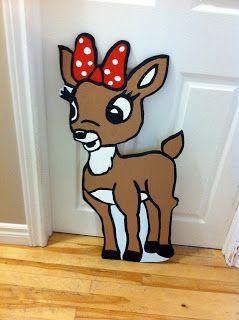 Clarice Christmas yard art