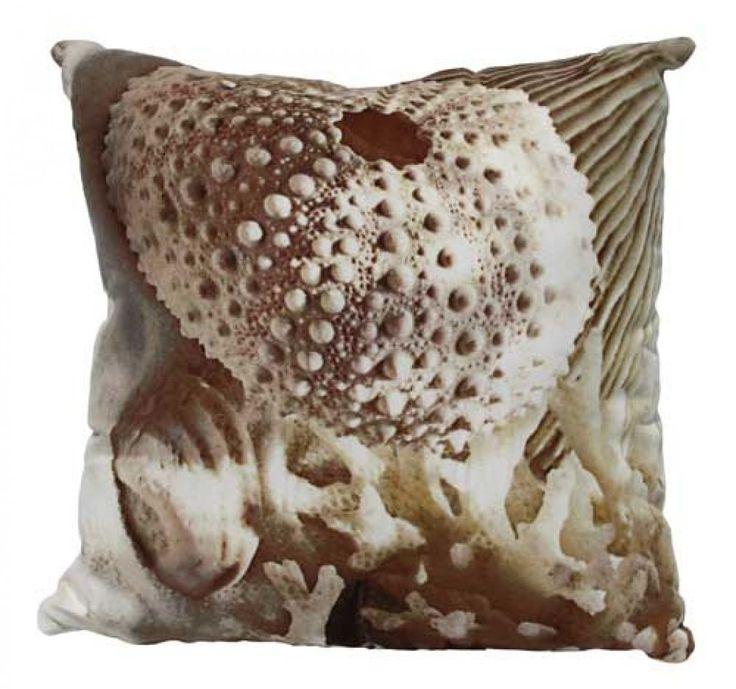 Natural Sea Urchin Cushion PLUS Insert - 40cm x 40cm - Tropical Beach Style