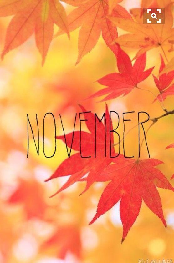 Картинки с надписью ноябрь на английском
