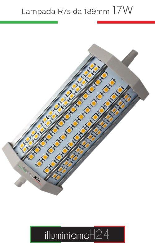 Lampada R7s 138mm 17W - 3000°K