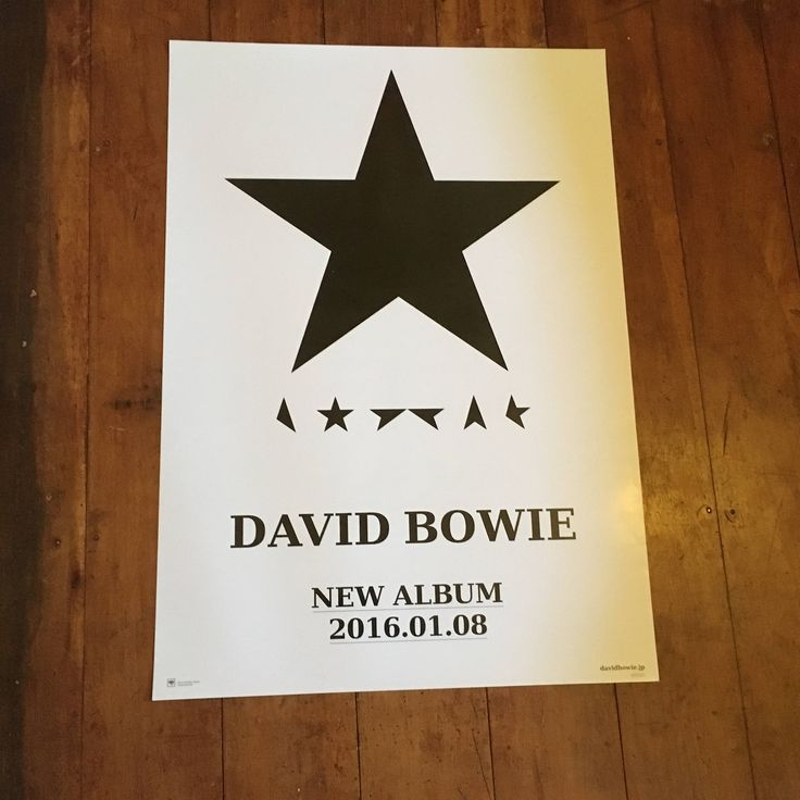 David Bowie Blackstar Original Rare Music  Sony Music Japanese Poster by RockPostersTreasures on Etsy