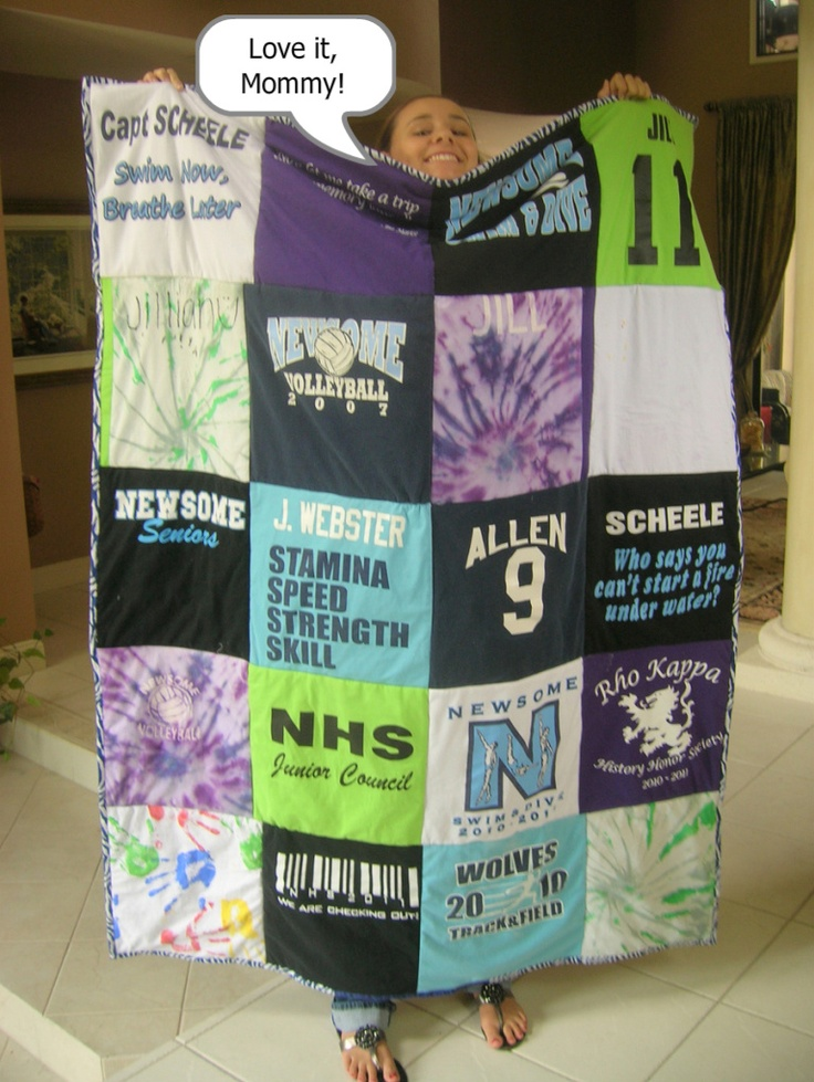 Very useful do's and don'ts in this tutorial for making a t-shirt quilt.