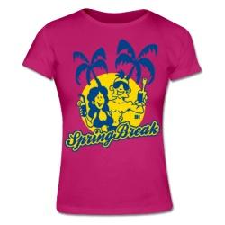 Spring Break Women's T-shirt. #Shirtcity #Cardvibes #Tekenaartje #Beach #Party