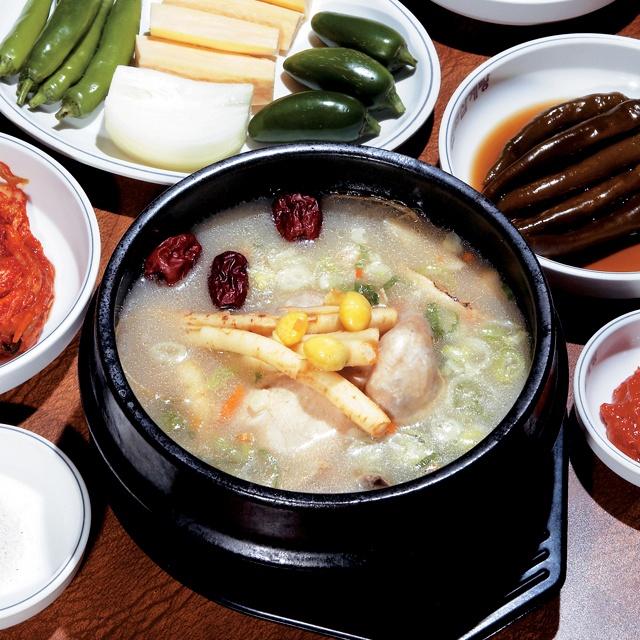 chicken porridge w ginseng & garlic