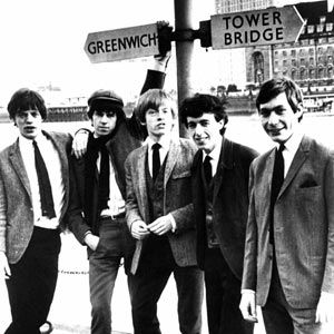 Young Rolling Stones, London, England,1963: From left: Mick Jagger, Keith Richards, Brian Jones (1942 - 1969), Bill Wyman and Charlie Watts.