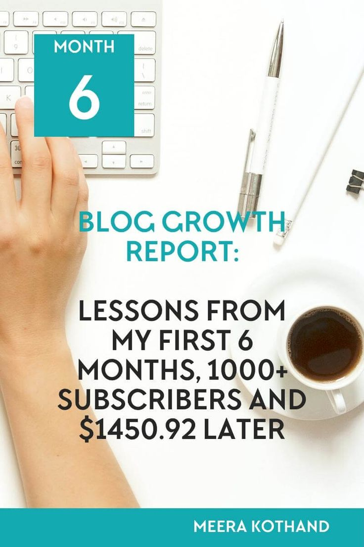 How much can you grow in the first 6 months of starting a blog from scratch?Read my blog growth report of how I gained 1000+ subscribers and earned $1450.92 in 6 months