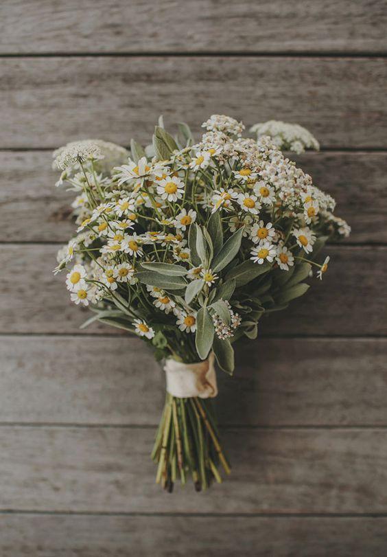 il fil rouge di un matrimonio, margherite, perché sono dei fiori semplice, al tempo stesso delicati, ma soprattutto economici.