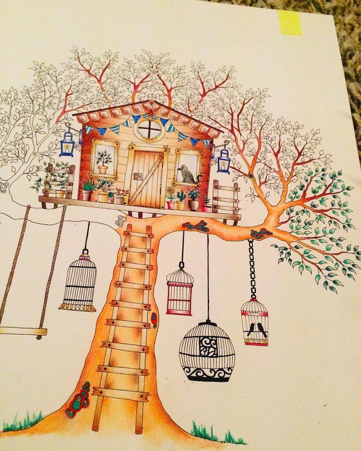 Sam On Instagram Little More Progress This Evening On The Secret Garden Artist Edition Adu Secret Garden Coloring Book Secret Garden Colouring Secret Garden