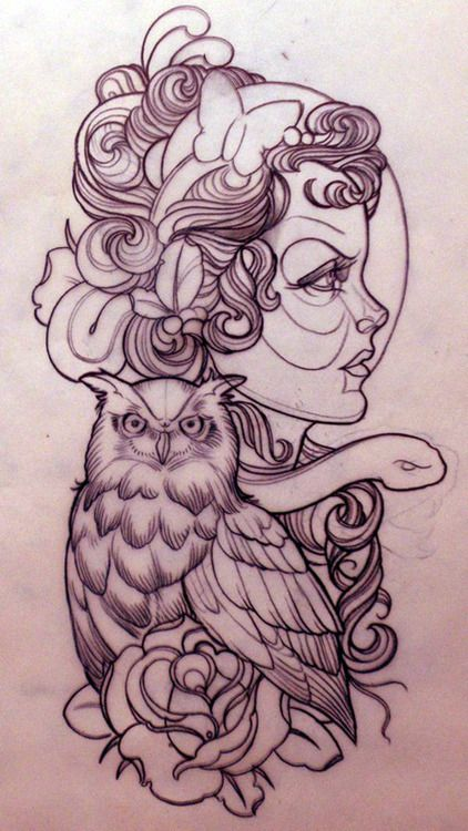 Tattoo design. #tattoo #tattoos #ink owl