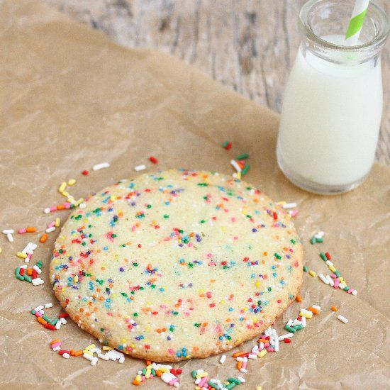 Single Serving Giant Birthday Cake Cookie