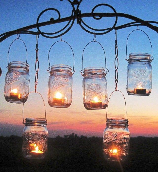 подсвечники своими руками для сада из стеклянных банок