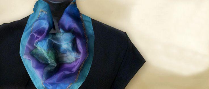 Ručne maľované hodvábne šatky a šály, Na výrobu sa používa pravý hodváb.