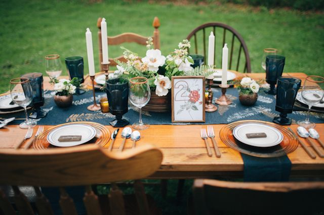 Copper and wood wedding ideas | My Dear Love | see more on: http://burnettsboards.com/2014/10/wooded-floral-wedding-inspiration/