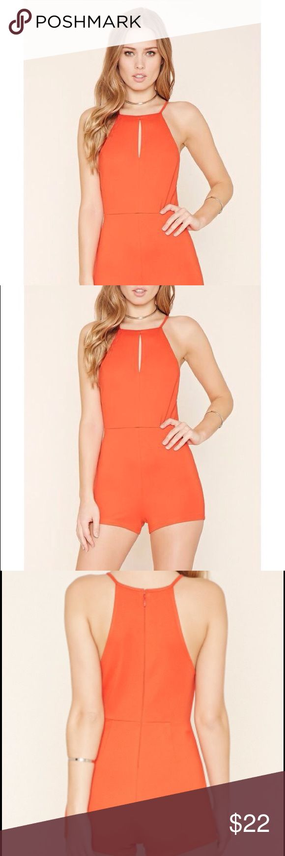 🆕Forever21 sexy jumper rope red tomato small Brand new without tags! Color is like red/orange tomato. Size: small. Looks exactly like the pictures. No flaws! Firm with price. Forever 21 Pants Jumpsuits & Rompers