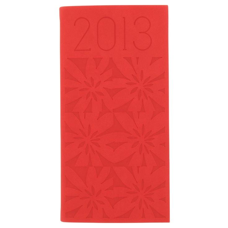 Paperchase deboss flower slim 2013 diary