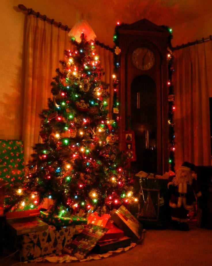 371 best pillars of color and light christmas trees images on pinterest xmas trees christmas ideas and christmas time - White Christmas Tree With Colored Lights