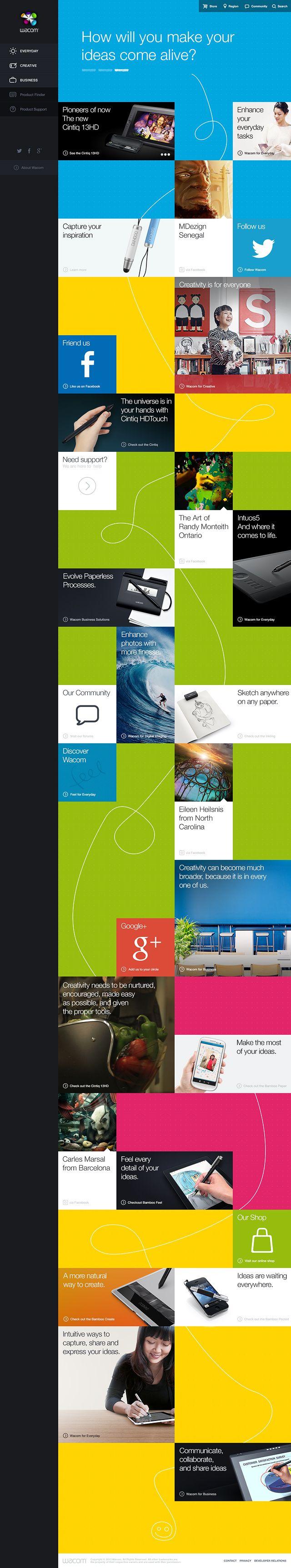 Wacom product website #webdesign #UI #navigation