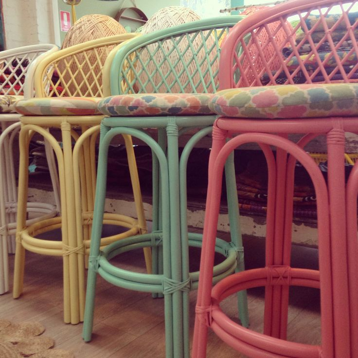 our pastel coloured bar stools! www.thefamilylovetree.com.au