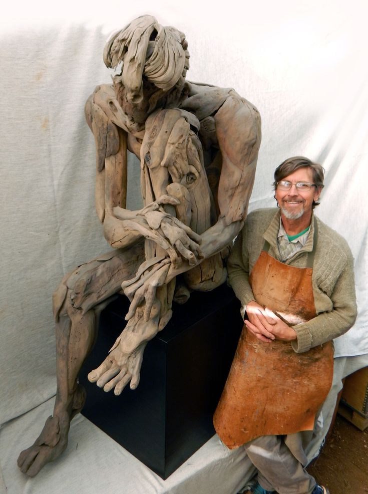 Tony Fredriksson With His Driftwood Sculpture Quot As A Man