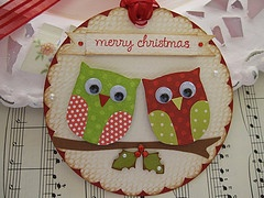 Well, maybe not for Christmas but cute owls for birthday cards