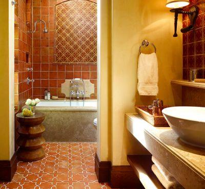 Stupendous Interior Design Bathroom Ideas Foxy Stupendous Earthy Interior Design Ideas In Bathroom Mediterranean Design Ideas With Accent Tile Archway