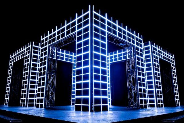 Светодиодная инсталляция «AXIOM» #световаяинсталляция #светодиоднаяинсталляция #свет #светодиодная #световая