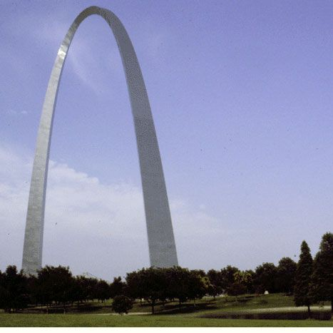 The Gateway Arch, St. Louis Missouri.  A freaky ride to the top!