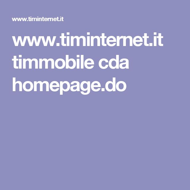 www.timinternet.it timmobile cda homepage.do