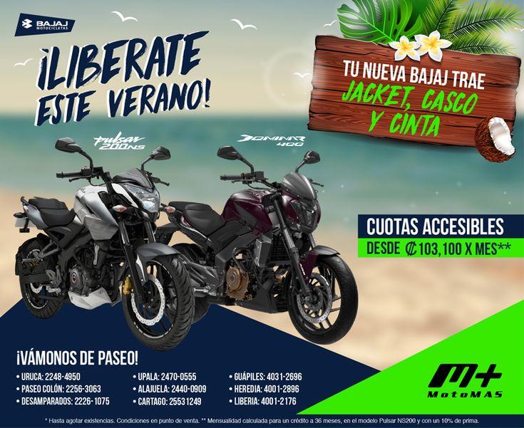 ¡El verano se vive mejor en moto, aprovechá las bajas cuotas de Motomás! Para  información adicional dar clic en el botón de visitar
