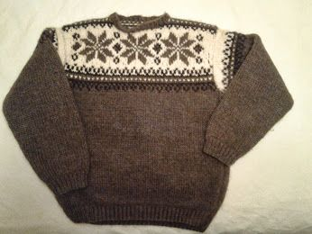 Buffalo wool sweater knitted in the 1980's!