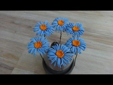 ▶ Цветок из фоамирана.(Шпильки для волос)Мастер класс. - YouTube