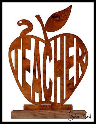 Scrollsaw Workshop: Teachers Apple Scroll Saw Pattern.