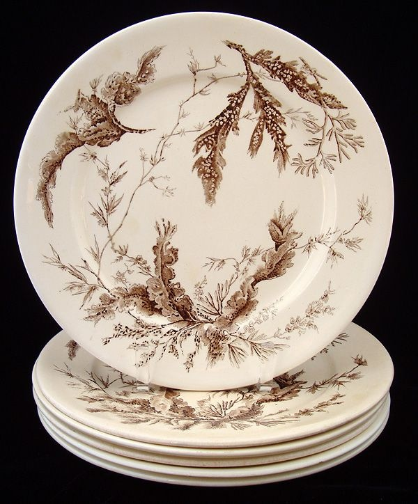 19th c aesthetic brown transferware & 314 best Brown and White Dishes images on Pinterest | White ...
