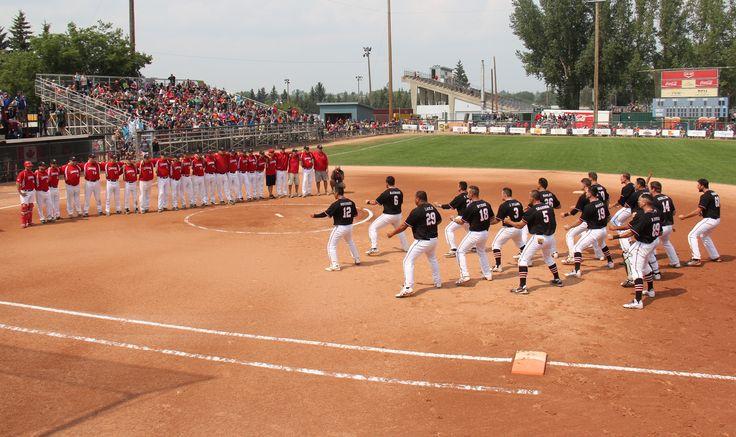 2015 – Saskatoon, ISF Men's World Softball Championship, New Zealand Black Sox. Photo courtesy of Judy O'Connor.