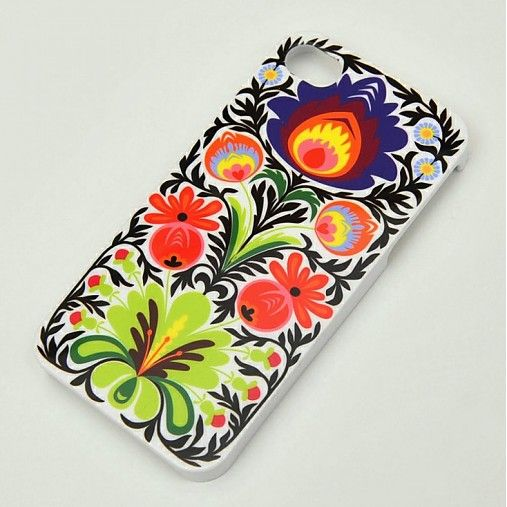 indiva /  Folkový kryt na iphone 4/4s  - bílý