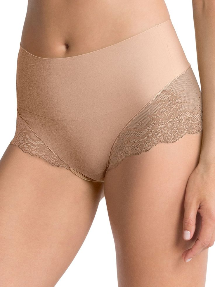 SPANX Women's UndieTectable Lace High Hipster Briefs at Amazon Women's Clothing store: