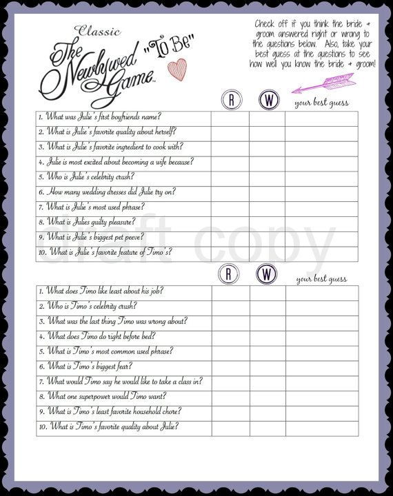 Bachelorette Party Game NewlyWed To Be