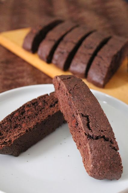 Love and Confections: Double Chocolate Biscotti for #cookieweek