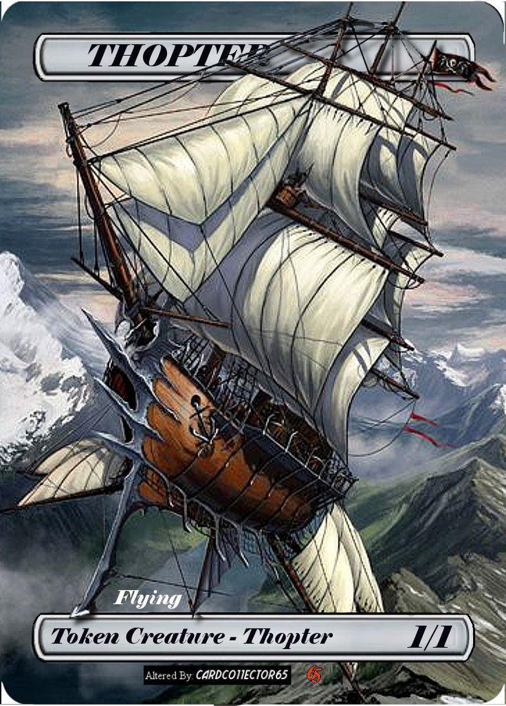 Thopter 1/1, Ship - MTG - Token