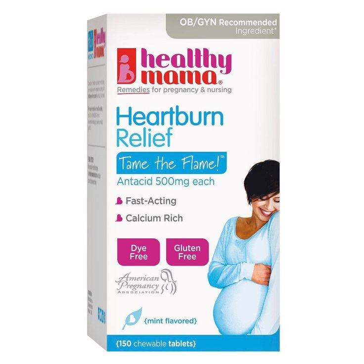 Healthy Mama Fast Acting Mint Flavored Heartburn Relief Chewable Tablets - 150 Count