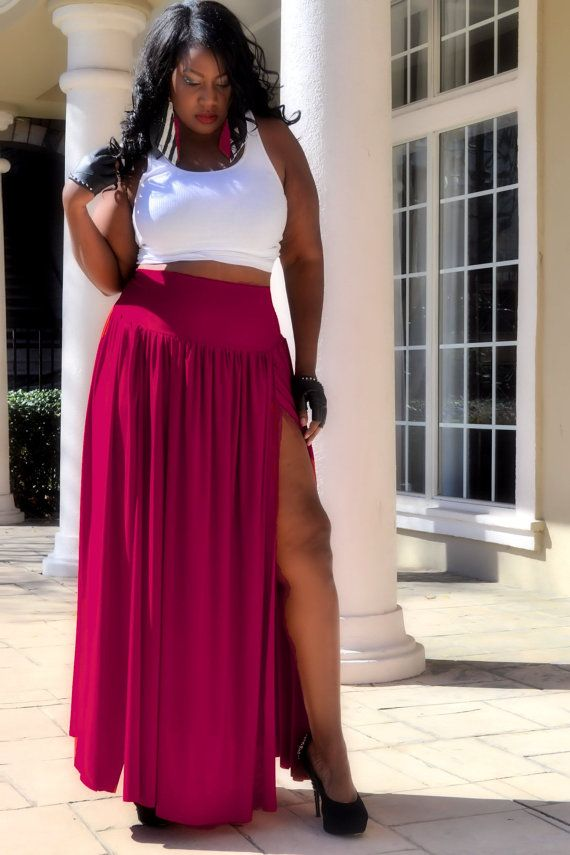 Plus Size Maxi Skirt  All Colors by SpoiledDiva on Etsy