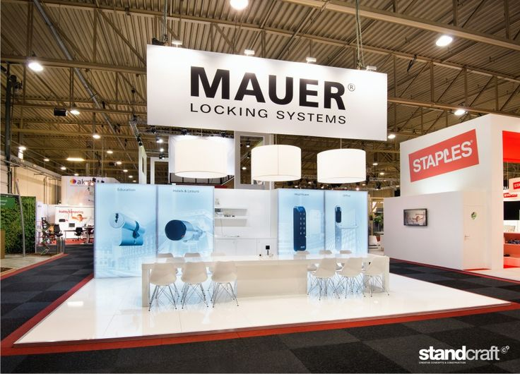 Standconstruction for Mauer at the Facilitair 2015 in Den Bosch in The Netherlands. Made by Standcraft!