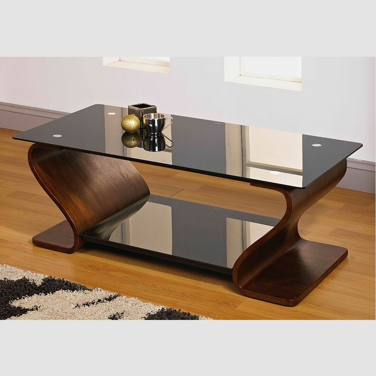tempered glass coffee table with shelf