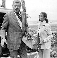 John Wayne In McQ, with co-star Diana Muldaur (1974)