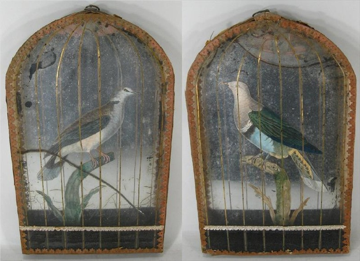 Faux bird cages.18th century.: Paintings Inspiration, Cages 18Th Century, Birds Cages 18Th, Bird Cages, Century Faux, 18C Faux, Faux Birds, Favourit Things, Cages Panels So