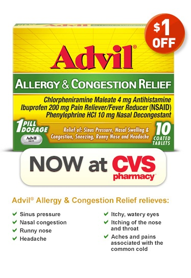 1 off advil allergy  u0026 congestion relief  now at cvs