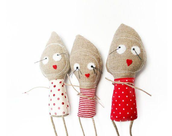 handmade plush, NATURELLS, stuffed animal, toy for children. via Etsy.
