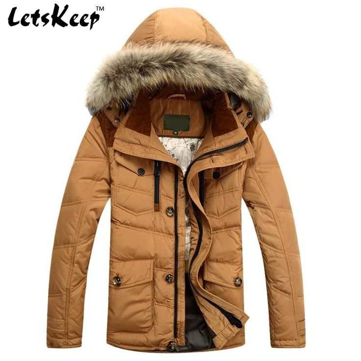 2016 New Letskeep mens winter jacket coat casual snow fur hood parka jacket men outerwear thicken overcoat plus size M-3XL,MA181